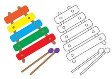 Xylophone Clip Art Cartoon Illustration Stock Vector Illustration