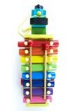 Xylophone colorido, de madeira com malho Fotos de Stock Royalty Free