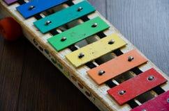 Xylophone d'arc-en-ciel Image stock