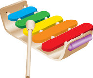 Xylophone del giocattolo del bambino Fotografie Stock
