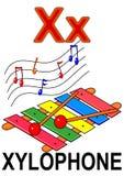 Xylophone della lettera X Fotografia Stock