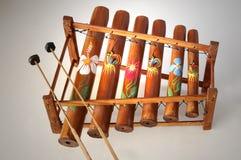 Xylophone di bambù Fotografia Stock