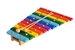 Xylophone di legno del giocattolo Fotografie Stock Libere da Diritti