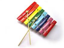 Xylophone en bois coloré Image stock