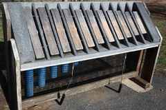 Xylophone im Freien Stockfotos