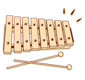 Xylophone isolated Stock Photos