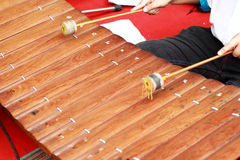 Xylophone a local thai music instrument. Royalty Free Stock Photos