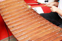 Xylophone a local thai music instrument. Royalty Free Stock Photography