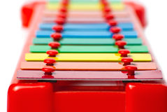 Xylophone metallophone for kids Royalty Free Stock Photo