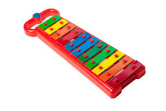 Xylophone metallophone for kids isolated on white Royalty Free Stock Photo