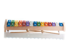 Xylophone in multi colours royalty free stock photos