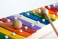 Xylophone in multi colours isolated Stock Images