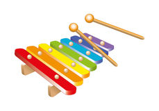 Xylophone. Multicolored xylophone for little musicians Royalty Free Stock Image