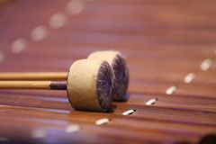 The xylophone is a musical instrument in the percussion family that consists of wooden bars.  stock photos