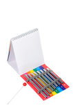 Xylophone with notepad. Royalty Free Stock Photography