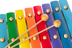 Xylophone with two mallets Stock Photo