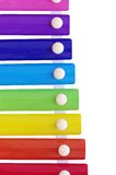Xylophone on white background. Childrens xylophone on white background Royalty Free Stock Photo