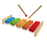 Xylophone on a white background Stock Photography