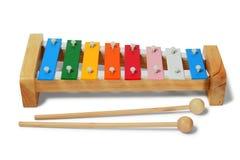 Xylophone on white Royalty Free Stock Photo