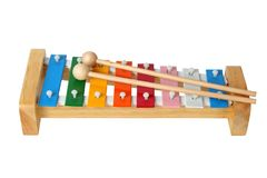 Xylophone on white Stock Photos