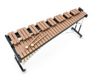 Xylophone on a whitre Stock Images