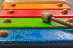Xylophone wooden toy Stock Images