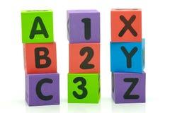 xyz abc 123 Стоковые Фотографии RF