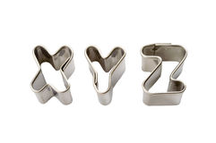 Xyz baking tins Royalty Free Stock Photography