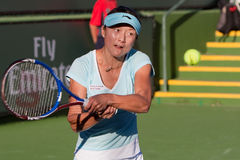 Yàn (Yan) Zī at the 2010 BNP Paribas Open. Tennis tournament at Indian Wells, California Stock Images