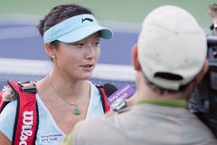 Yàn (Yan) Zī at the 2010 BNP Paribas Open. Tennis tournament at Indian Wells, California Stock Image
