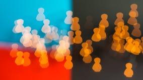 Żyć pokojowo w społeczeństwie różni ludzie Obraz Stock