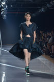 Y-3纽约时装表演 免版税库存照片