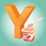 Y alphabet icon great for any use. Vector EPS10. Royalty Free Stock Image