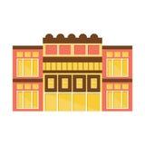 Y amarilla de Clssical ejemplo plano aislado plantilla de proyecto exterior moderna rosada del diseño del edificio de la alameda  Fotografía de archivo
