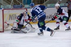 Y. Babenko (12) en avant, capitan de l'équipe de Dinamo Images stock