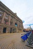 Y bicicletas de aduanas de Alexander Hamilton los E.E.U.U. en un Manhatt más bajo Fotos de archivo libres de regalías