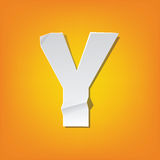 Y capital letter fold english alphabet New design Royalty Free Stock Photography