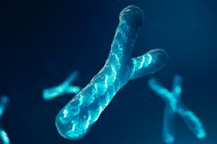Y-Chromosomes with DNA carrying the genetic code. Genetics concept, medicine concept. Future, genetic mutations. Changing the genetic code at the biological vector illustration