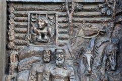 Żyć codziennych ludzie w starych dniach Tyumen Rosja Obrazy Stock