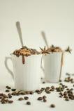 y x22; Coffe, chocolate y postre del helado imagen de archivo
