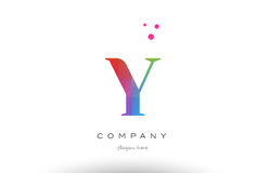 Y colored rainbow creative colors alphabet letter logo icon Royalty Free Stock Photo
