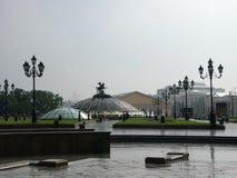 Y en Moscú hay lluvias Imagen de archivo libre de regalías