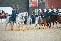 Y escuela de montar a caballo de Kremlevskaya Fotografía de archivo libre de regalías