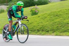 Y.GENE (EUC - FRA). During the 9 stage of the Tour de France, Arc et Senans-Besançon, July 9 2012 Royalty Free Stock Image