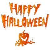 y x27; Halloween& feliz x27; letras en el fondo blanco Imagen de archivo libre de regalías