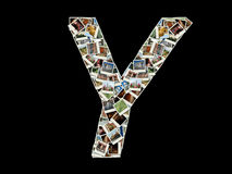 Y letter - collage of travel photos Royalty Free Stock Photo
