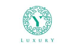 Y Letter Logo Luxury.Beauty Cosmetics Logo. Y Letter Logo Luxury. Green Beauty Cosmetics Logo Monogram Stock Image
