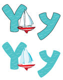 Y listowy jacht Obrazy Royalty Free