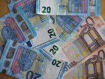 50 y 20 notas euro, unión europea Fotografía de archivo