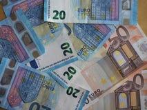 50 y 20 notas euro, unión europea Foto de archivo libre de regalías